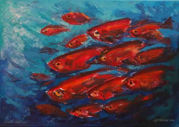 Underwater painting Red expression. (was made underwater)