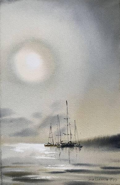 Yachts at anchor #3