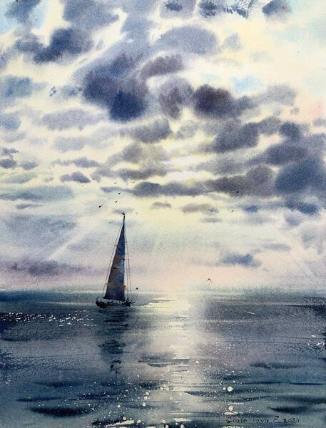 Sailboat and clouds #5