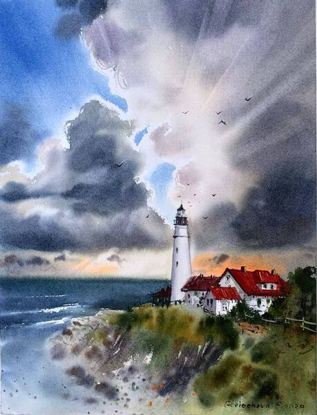Lighthouse and Clouds #3