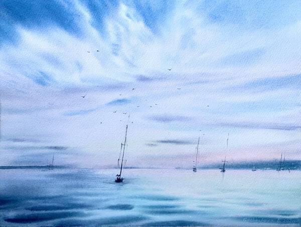 Yachts at anchor #