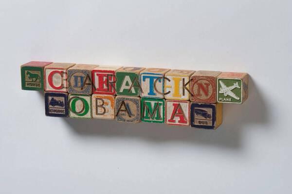 DJT Alphabet Blocks: Barak Obama