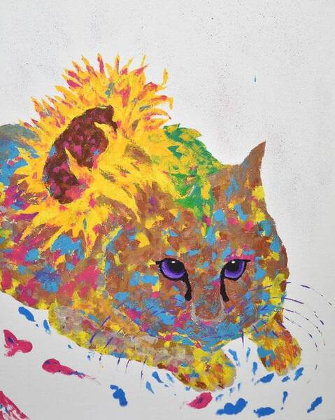 Sunflower Cat