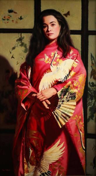White Crane Kimono