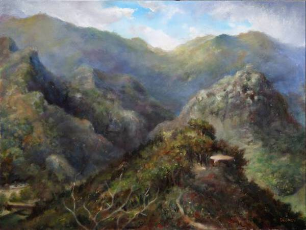 Where the Rain Grows, or View on Malibu Creek