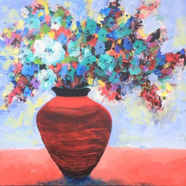 Red Pot Floral