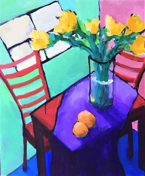 Kithcen Table Floral