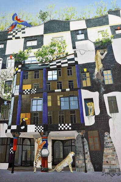 The Architectonic Forest-Tribute to Hundertwasser