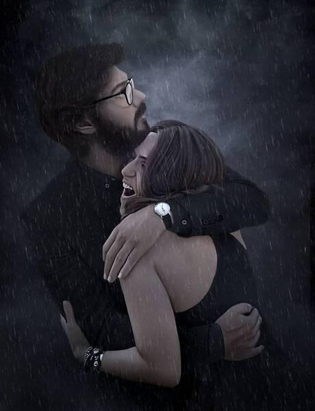 El profesor & Itziar with rain