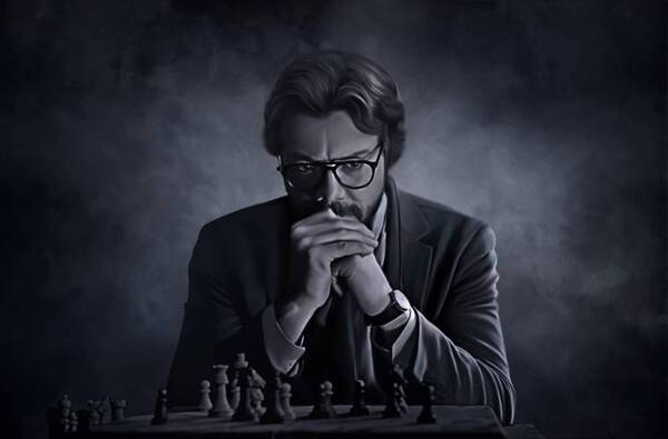 El profesor plays chess