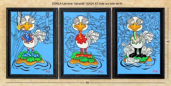 Les trois canards (triptych)