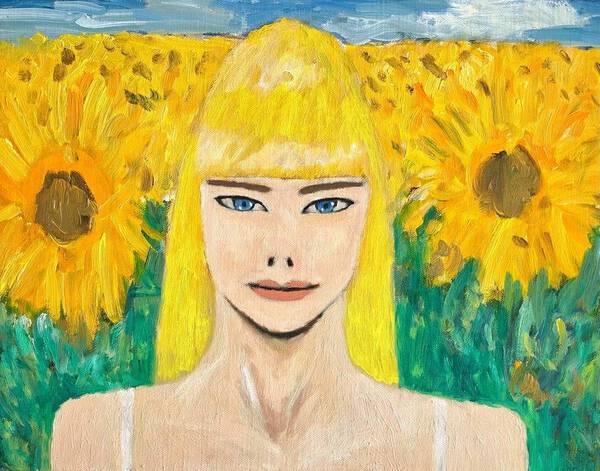 Europy with sunflowers(エウロピとひまわり)