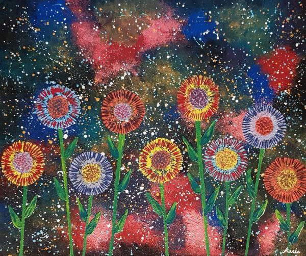 flower in galaxy