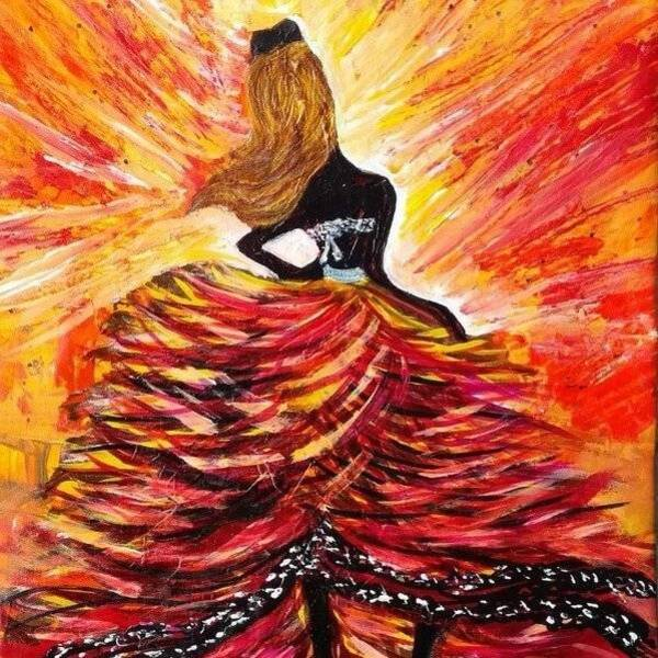 Lady art dresses