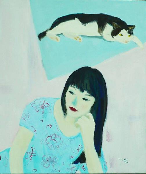 A Women and A Cat