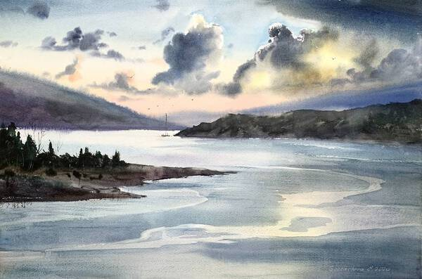 Pre-Sunset River