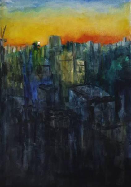 A Daybreak In City