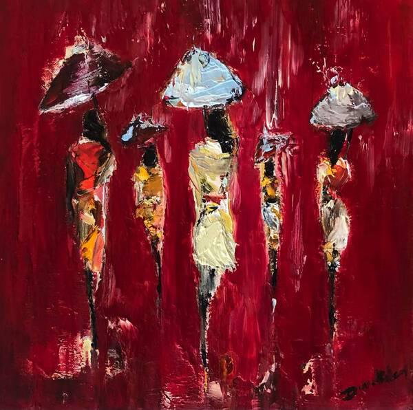 Rain in red