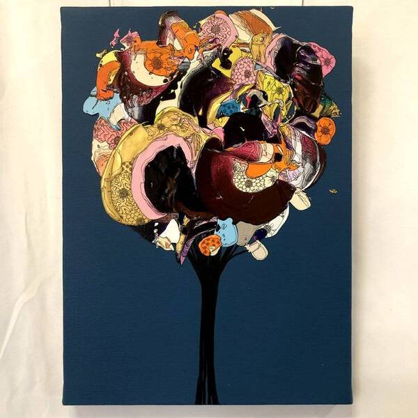 Abstract Bouquet (Navy x Purple)