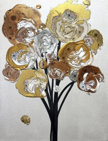 Abstract Bouquet (Silver x Gold)