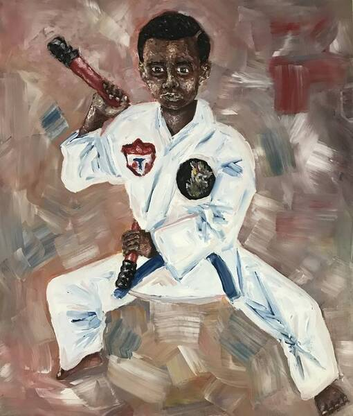 Young martial artist