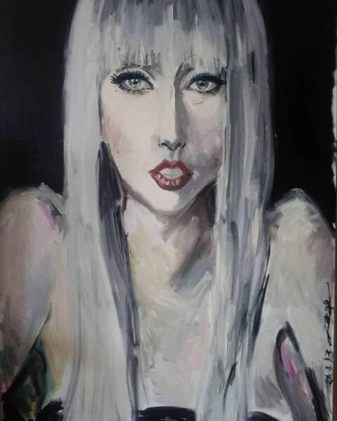 Portrait of Lady Gaga