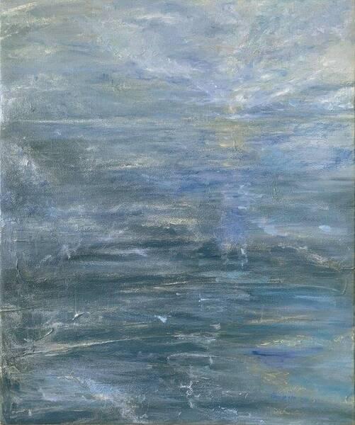 Silvery Moonlight Sea