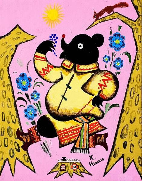 The Bear Having Grapes