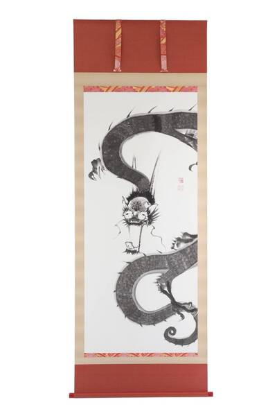 "Reproduce of Ito Jakuchu ""Ama Ryou zu"" - Rain Dragon"