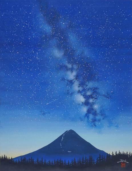 Milky Way and Mt. Fuji