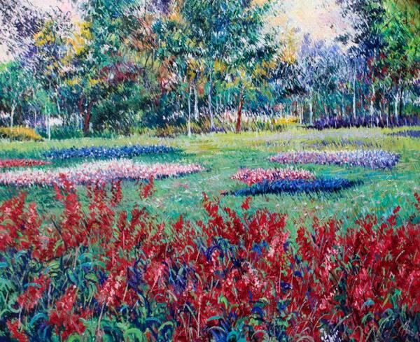Red Flowers in love Garden