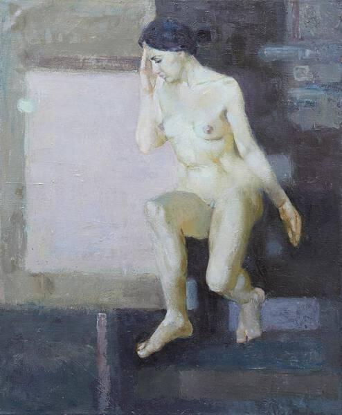White Square Nude