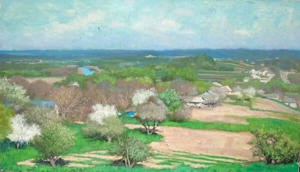 Spring in village Dybintsy