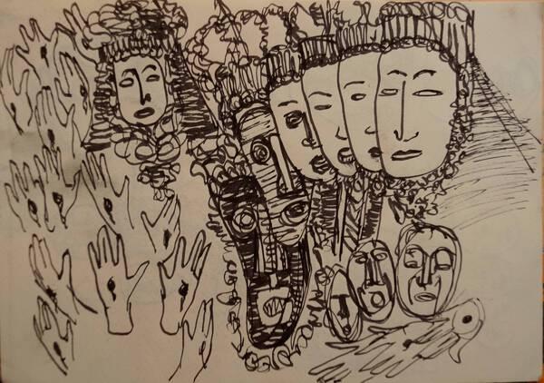 Virgen de la Soledad (sketch)