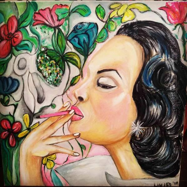 Pink cigarette...