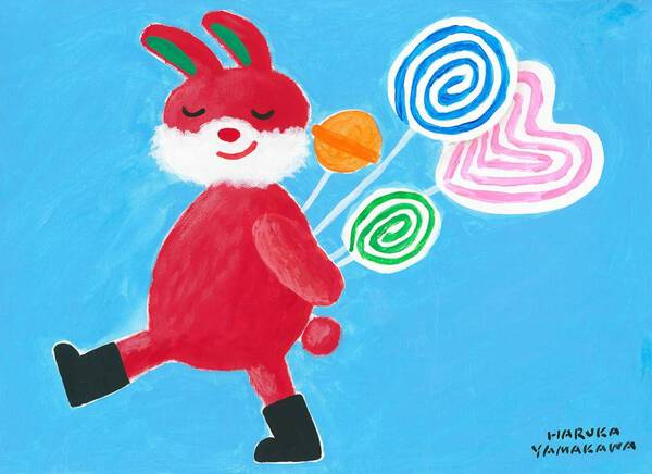 Rabbit and lollipop candy