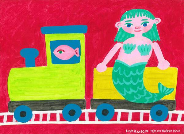 Mermaid and train