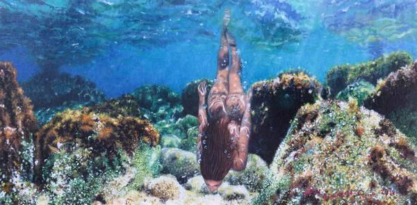 'Bathing in the sea''