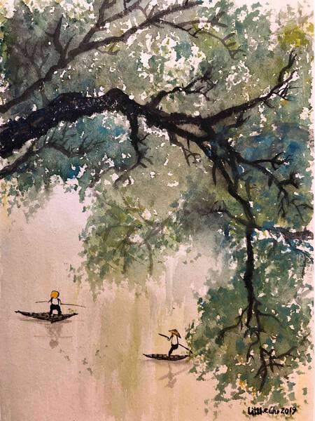 Rafting in summer