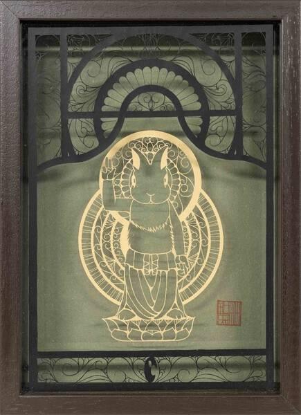 Rabbit Gautama Buddha statue・誕生釈迦兎仏