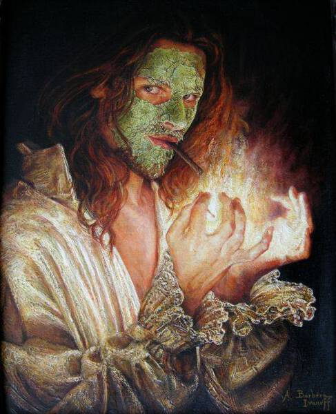 Self-portrait with beauty mask