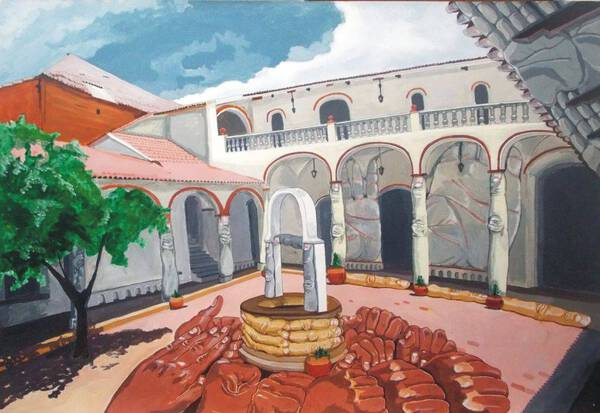 Colonial patio