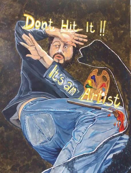 Dont hit it, Its an Artist