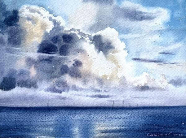 Sea cloudscape