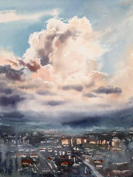 City Cloudscape at Sunrise #3