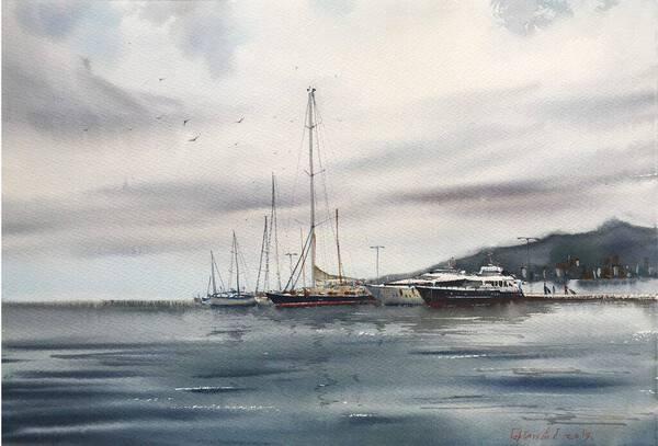 Moored yachts, Palamos