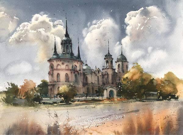 Gothic church, Bykovo, Russia