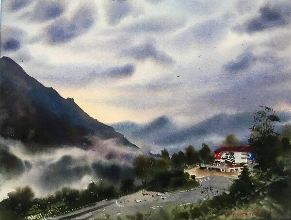 Fog at the mountains