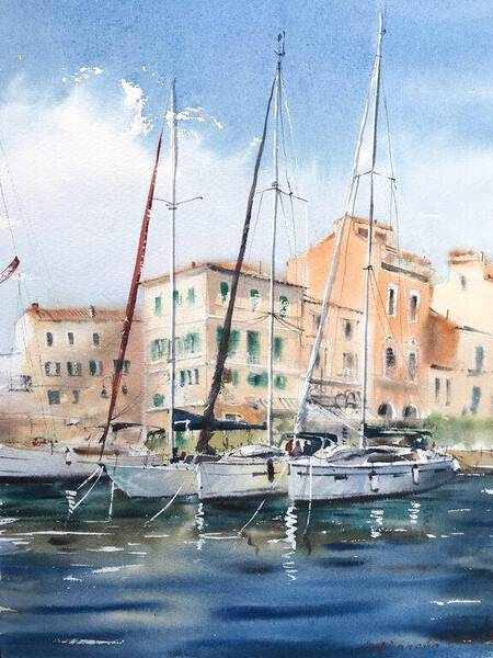 Moored yachts #2