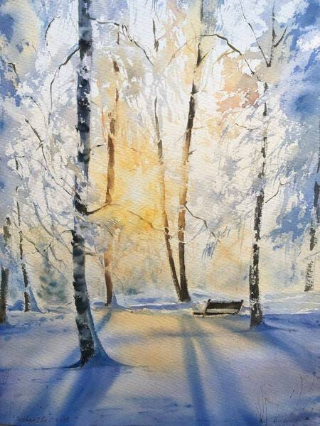 Winter forest in the sunlight #2